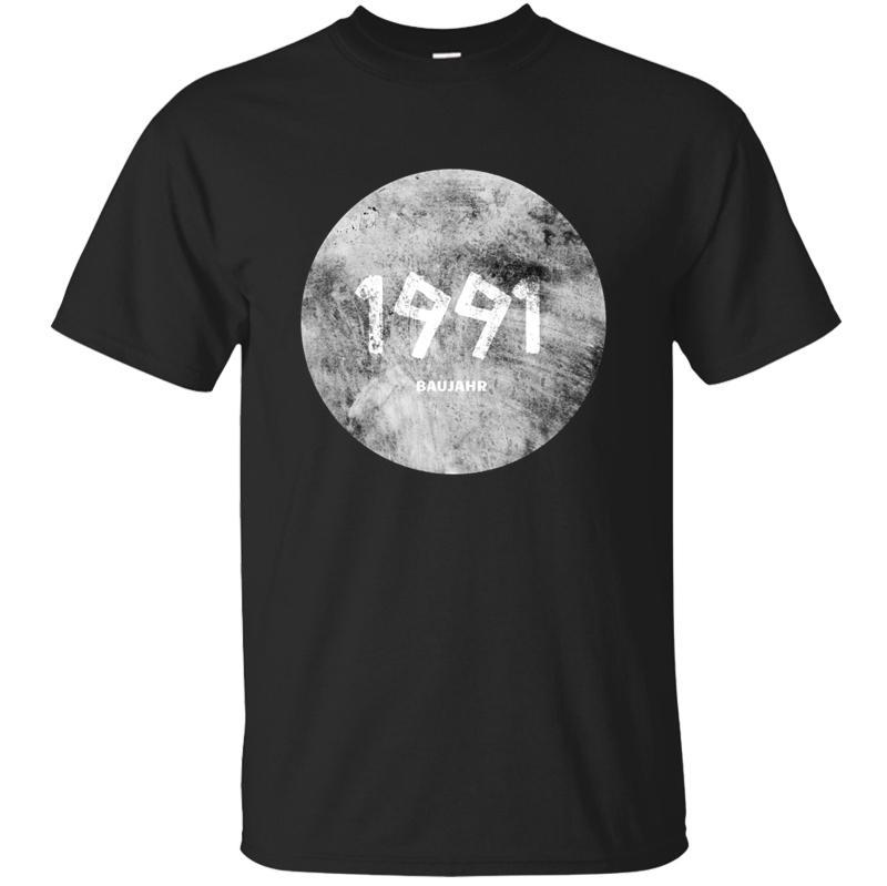 Baujahr Geburtsjahr 1991 T-Shirt Natürliche Männer T-Shirt mit O-Ausschnitt Baumwolle Größe S-5xl HipHop Tops