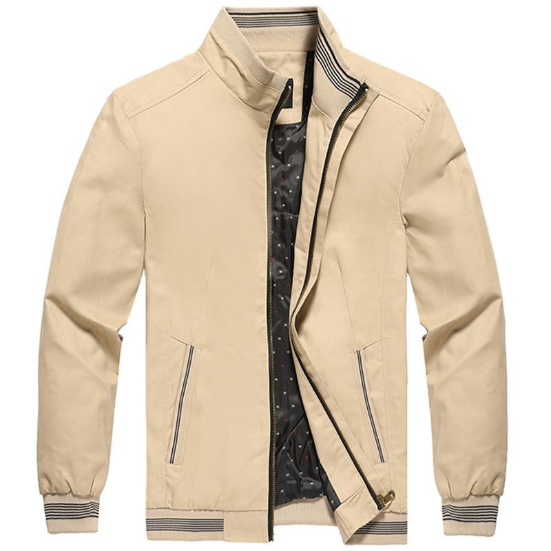 Mens Pilot Bomberjacke Frühling und Herbst 100% Baumwolle Windjacke Herren Baseball Uniform Mantel lässig männlich Fracht Jacken