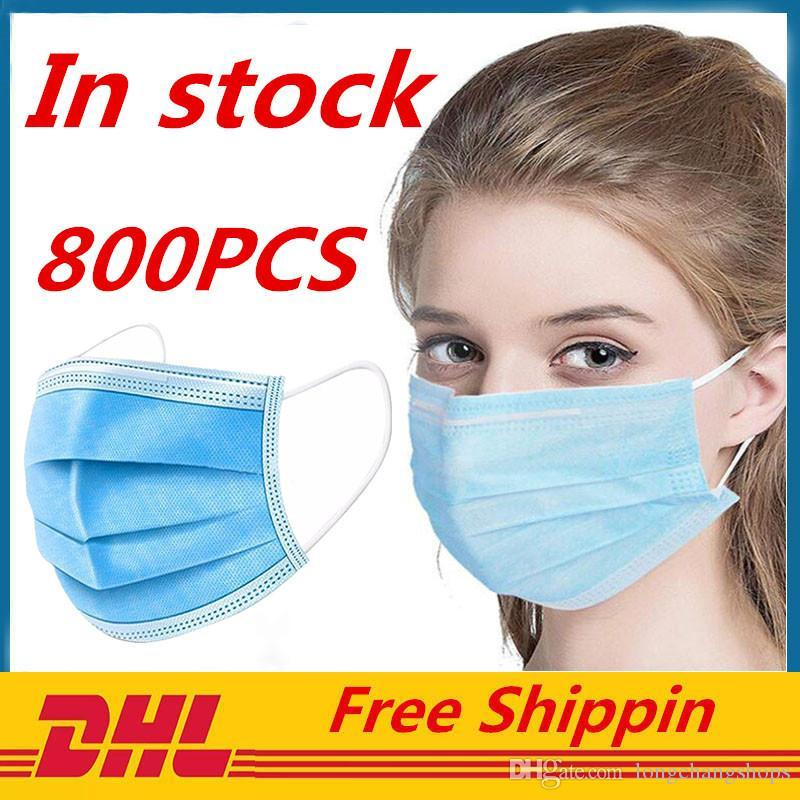 Lager Einweg-Gesichtsmasken Thick 3-Schicht-Masken In mit Earloops für Salon, zu Hause Gemütlich auf Lager Mask
