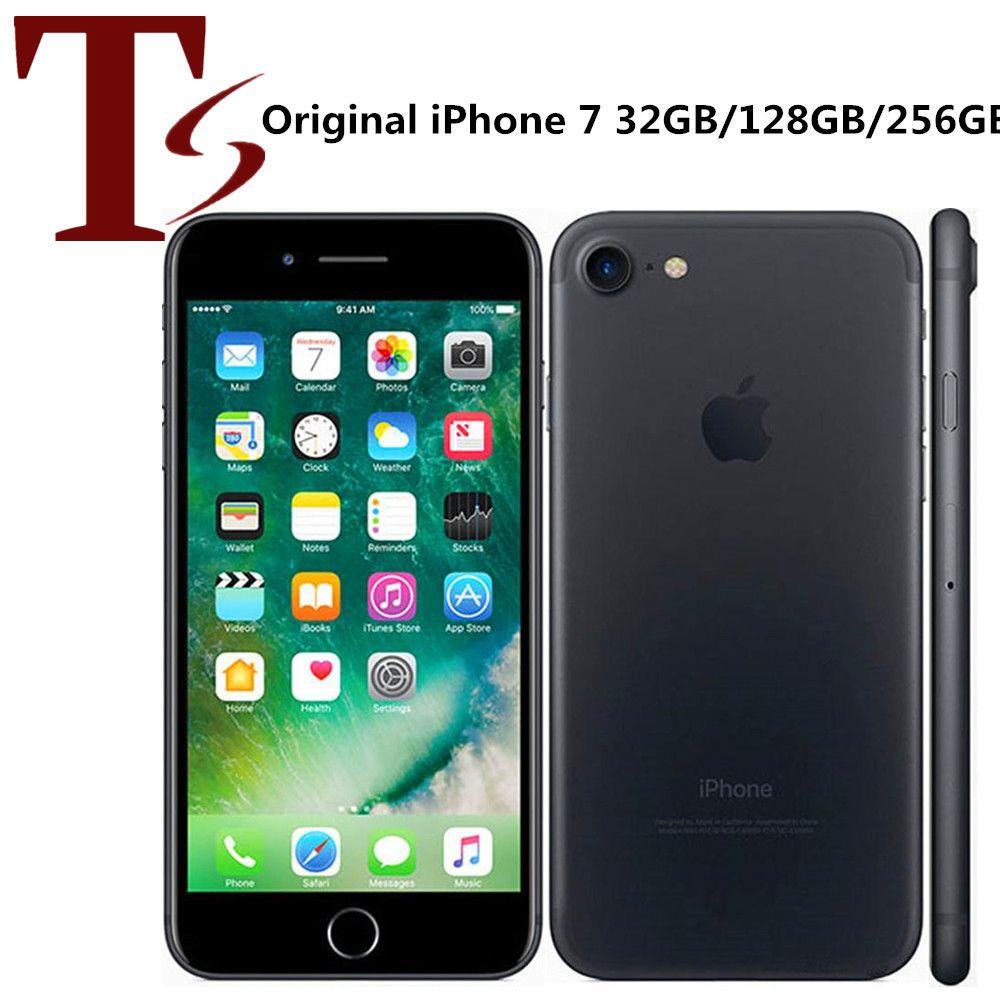 تم تجديد Apple Apple iPhone 7 4.7 بوصة بصمة ios A10 رباعية النواة 2GB RAM 32/128 / 256GB ROM مقفلة 4G LTE الهاتف