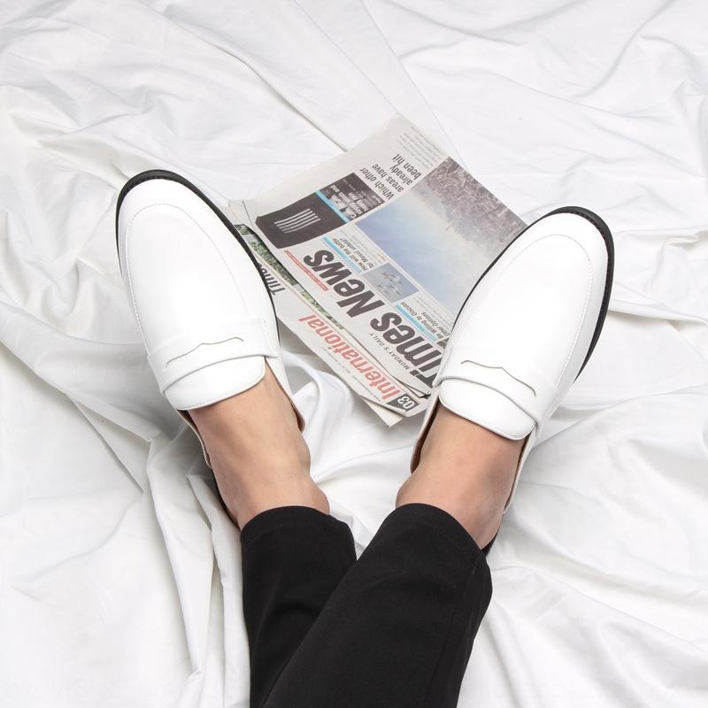 piccoli Fc20E 2020 primavera e l'estate nuove scarpe di cuoio degli uomini hanno indicato i pistoni di una-pedale a metà traino discoteca personalizzata hair stylist pantofole