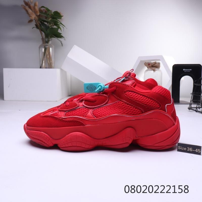 ssYEzZYYEzZYs v2 350aumentare prezzo basso 500 Desert Rat scarpe da ginnastica di marca donne Sneakers uomini nero assoluto bianco grigio 500 KANYE