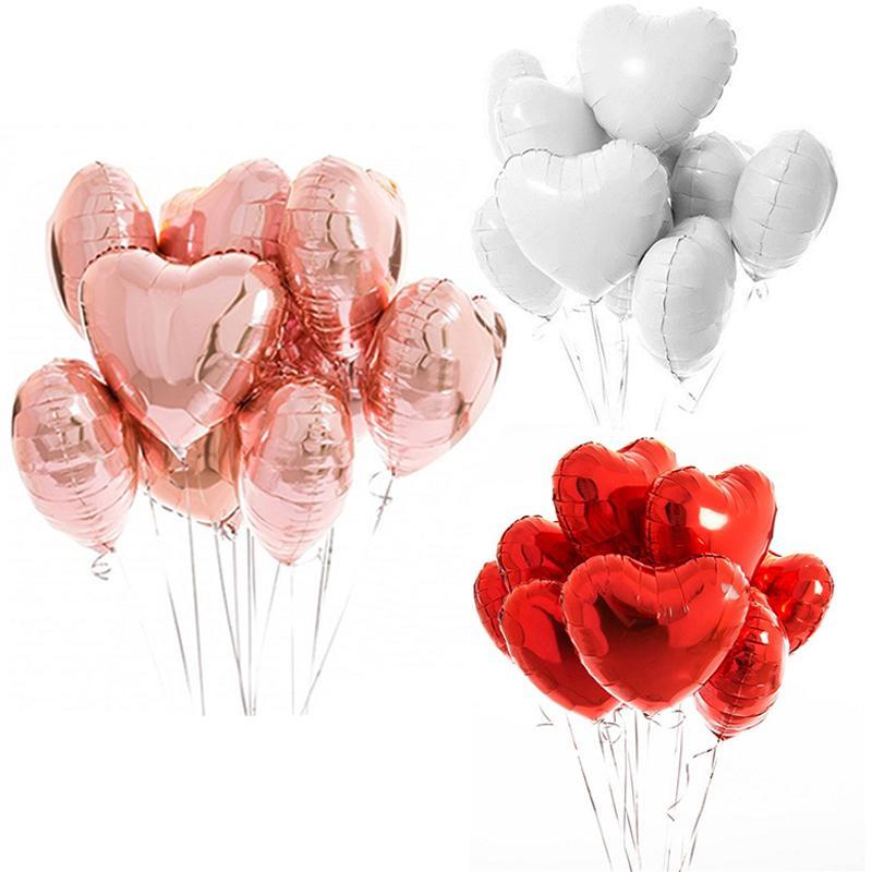 멀티 로즈 골드 하트 호일 풍선 색종이 라텍스 생일과 baloons 생일 파티 장식 어린이 성인 웨딩 풍선