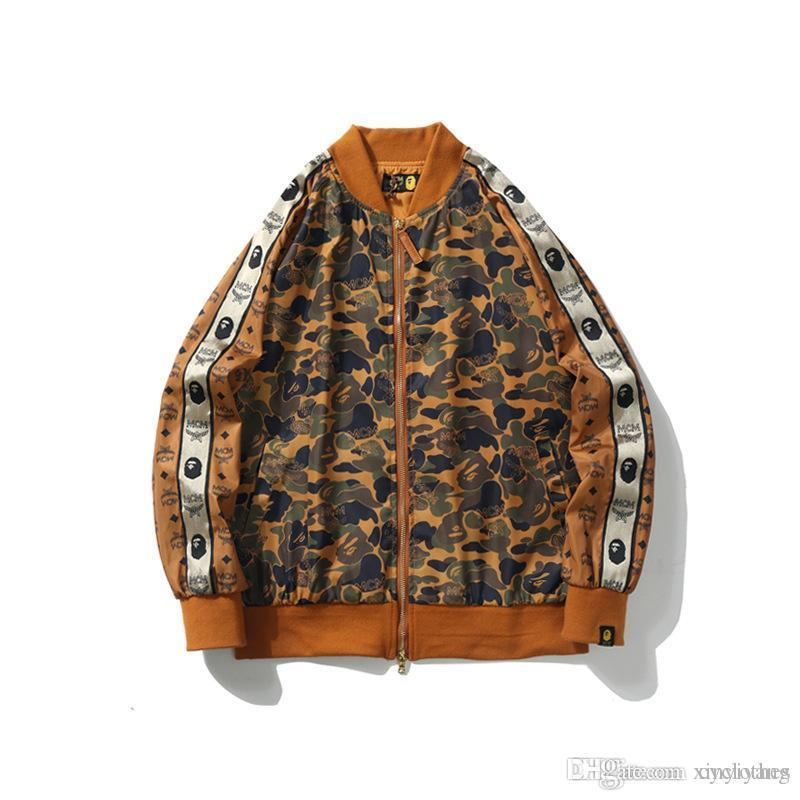 Spring Autumn New Men Women Desert Camo Casual Baseball Shirt Jacket Brand Designer Sports Windbreaker Thin Casual Jacket