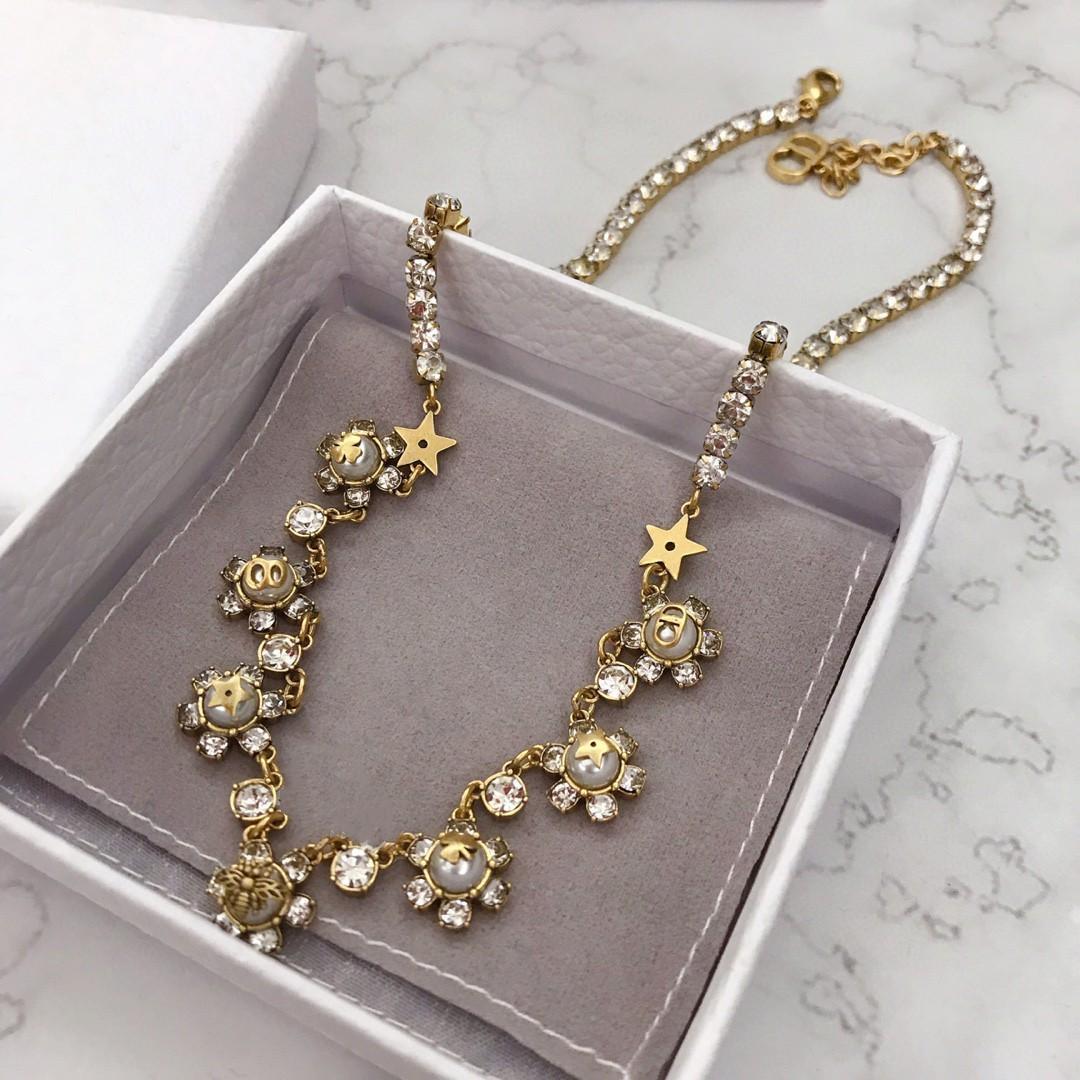 Взрыв моды пчелка цветок жемчужина дизайнер ювелирных изделий роскоши дизайнер ювелирных женщины ожерелье