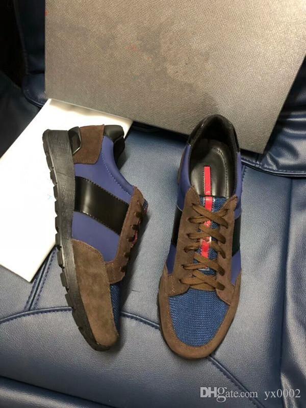 2020 Arena classique en cuir véritable Marque Flats Homme Chaussures montantes Mode Casual Luxe Derbies xg18042909