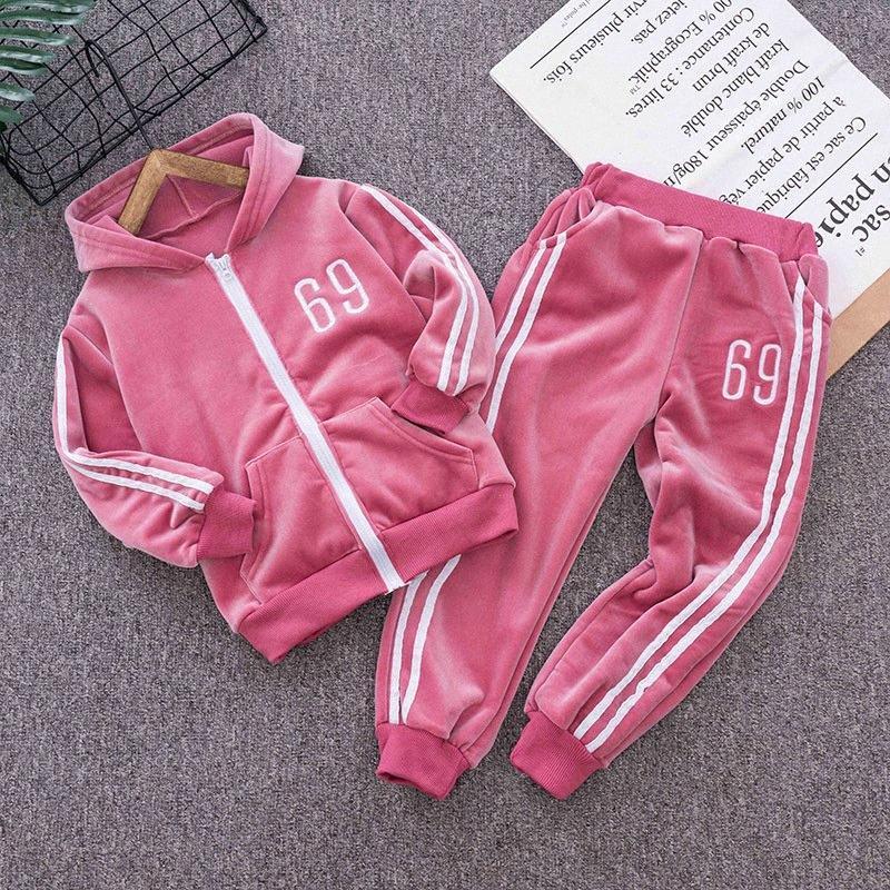Muchachos de las niñas jogging sistemas de la ropa de primavera sutumn niños ocasional Hoodies + pantalones 2pcs unisex chándales para Bebés y Niños Fshion Traje LfHF #