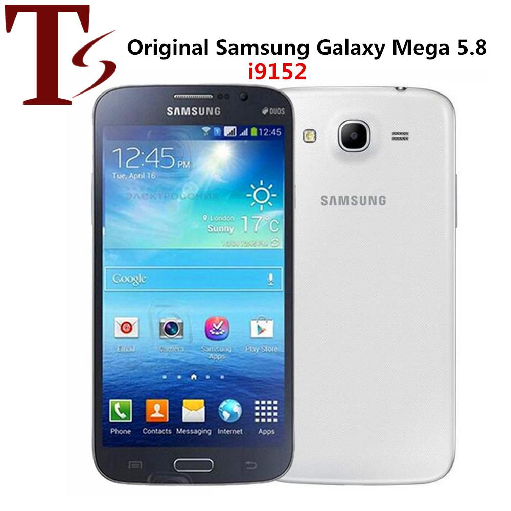 Remodelado Original Samsung Galaxy Mega 5,8 I9152 Dual SIM Dual Core 1.5GB RAM 8GB ROM 3G desbloqueado telefone Android