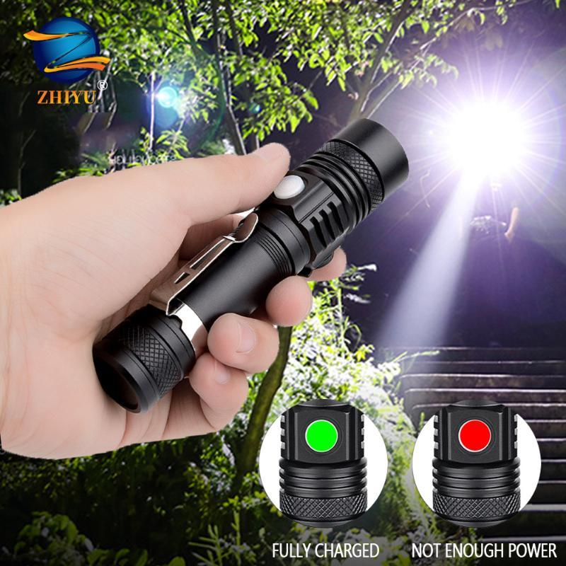 Flashlights Torches ZHIYU Super Bright Led CREE T6 Lamp Beads Usb Rechargeable Torch Waterproof Durable Material Outdoor Camping