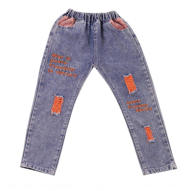 Jeans Jeans nnXk1 ragazze vestiti primaverili 2020 vestiti primaverili e pantaloni ricamati autunno del bambino di usura nuova trouse autunno per bambini per bambini