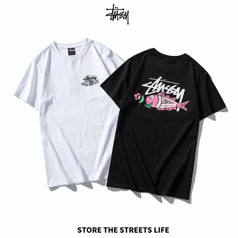 Mens Stylist T Shirt Verão Imprimir manga curta Moda Mens T Shirt Hip Hop Black Men Women Tees tamanho M-2XL