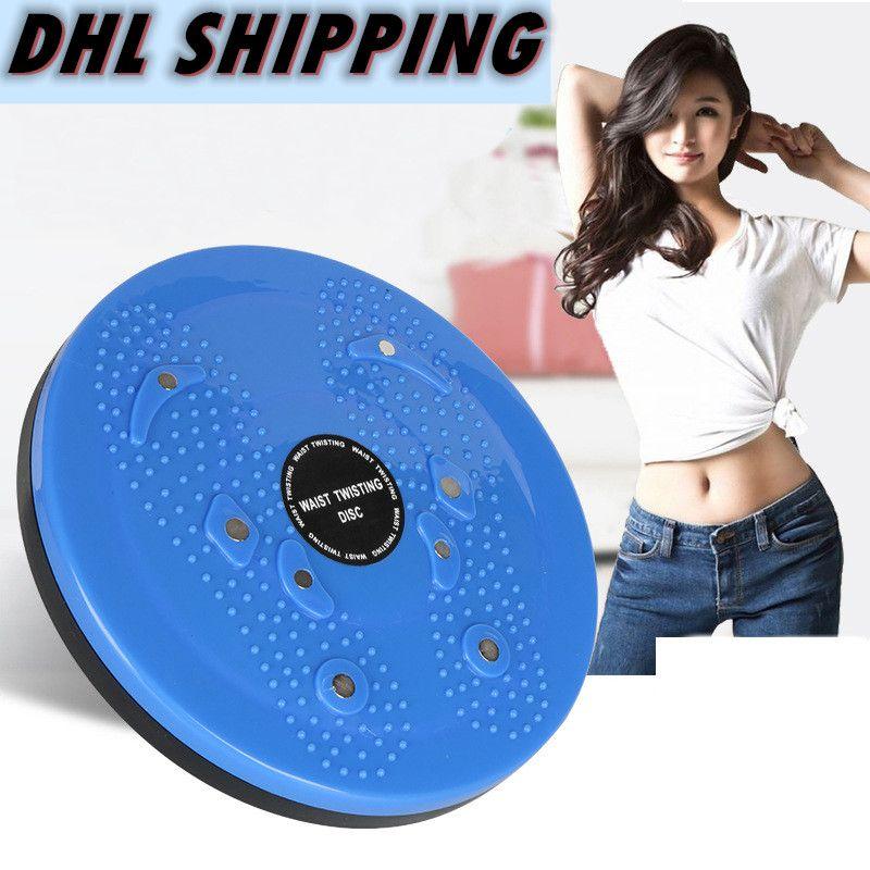Nave libre de DHL, Fitness Masaje Twister placa magnética de la cintura de la cintura que tuerce retorciéndose disco Gira FY6257 Junta Mujeres Home Fitness Sports Máquina