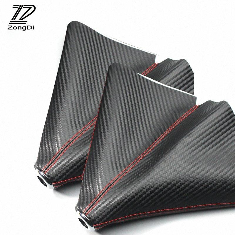 ZD 1X Gear Lever Dust Proof Cover Carbon Fiber Leather For Solaris I30 Ix35 3 6 Cx 5 Punto Ducato Accessories Decorative Items For Car Uz6d#