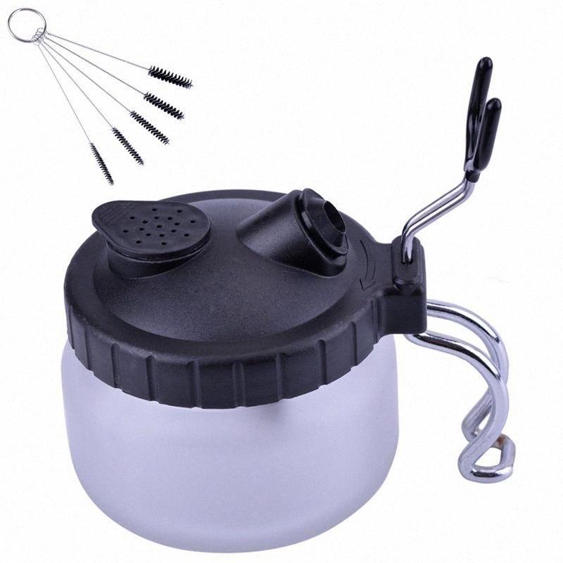 Nettoyage Airbrush Pot, propre pot de peinture avec porte-brosse air + nettoyage Buse brosse de UGBN #