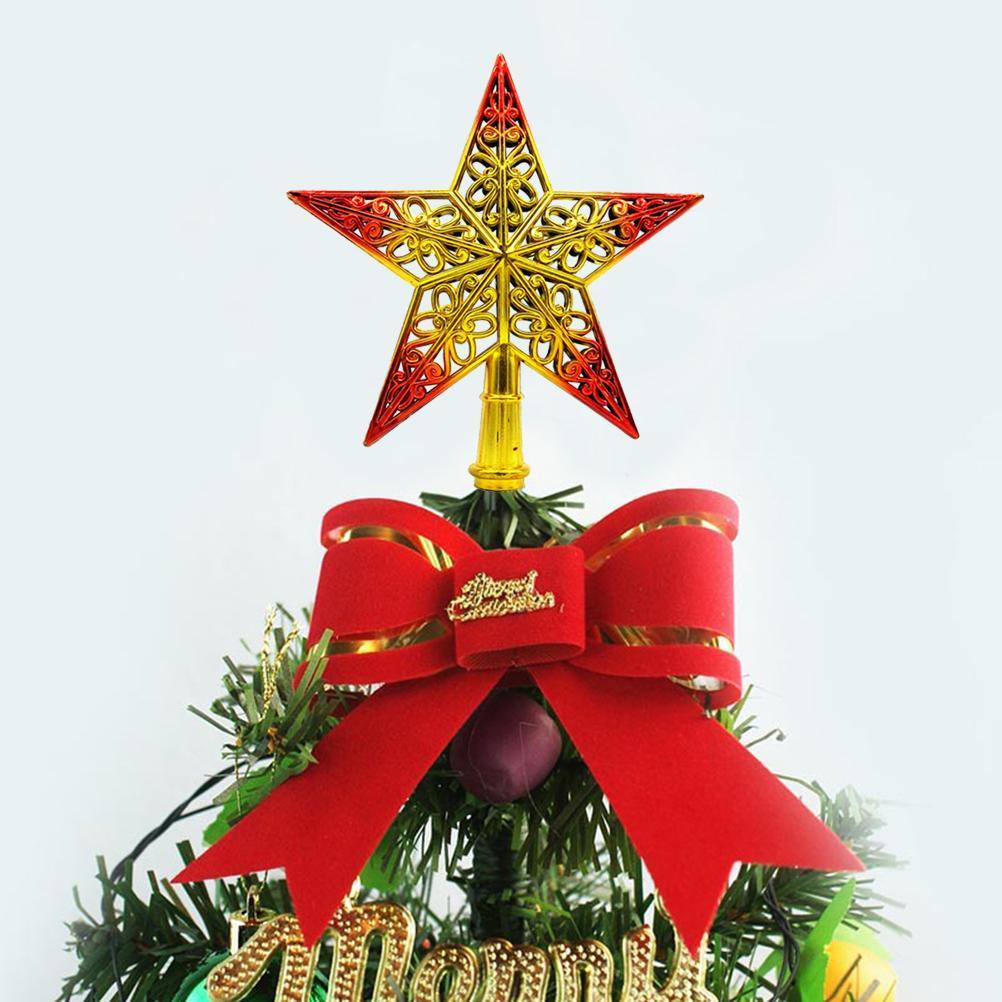 Ahuecado del árbol de navidad de la chispa de la estrella que brilla superior del árbol de Navidad que cuelga Topper Decoración Adornos Decoración