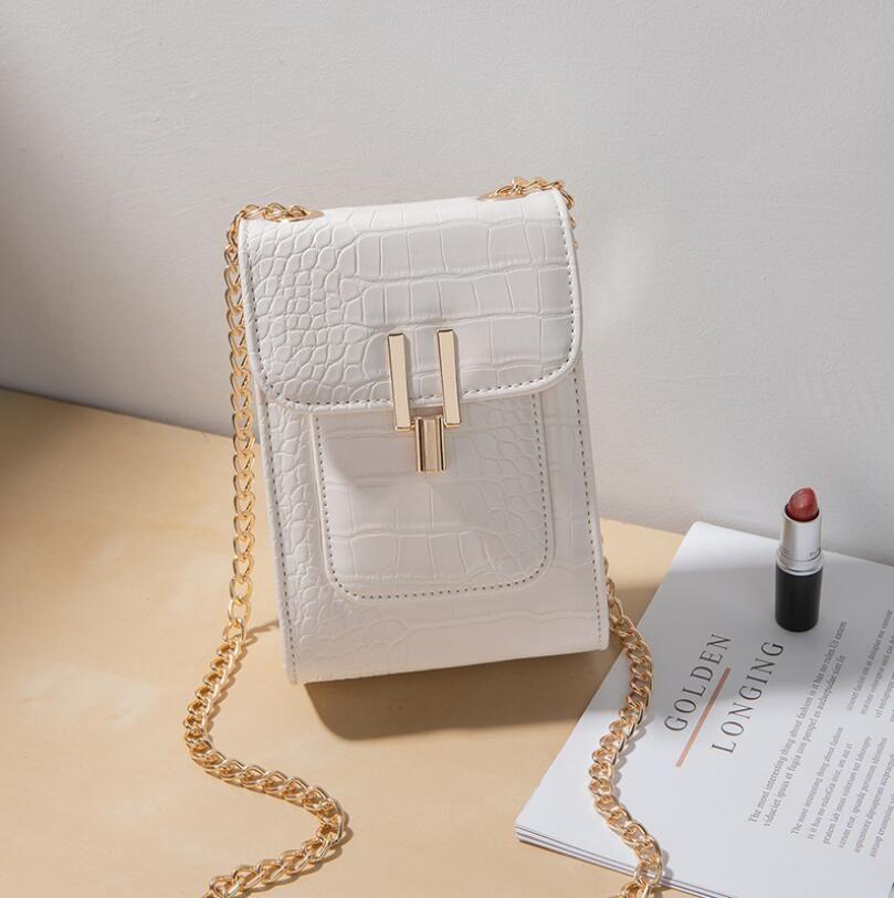 Мода Малый черный мешок новый стиль одного плеча Straddle Мобильный телефон сумка Карман для женщин