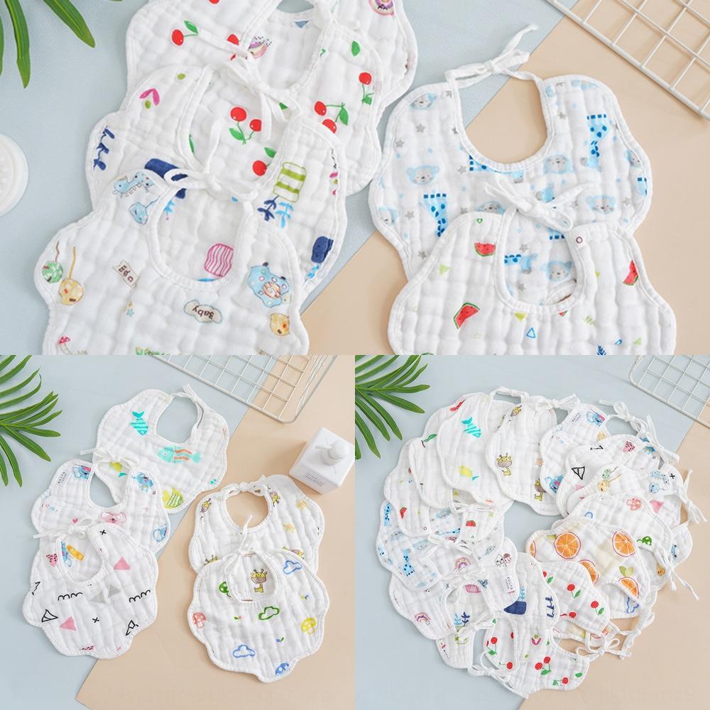 e7YZf serviette de bavoir en forme de U coton serviette serviette gaze 8-couche épaissie serviette de salive de lait anti-crachement impression recto-verso à manger du nouveau-né b