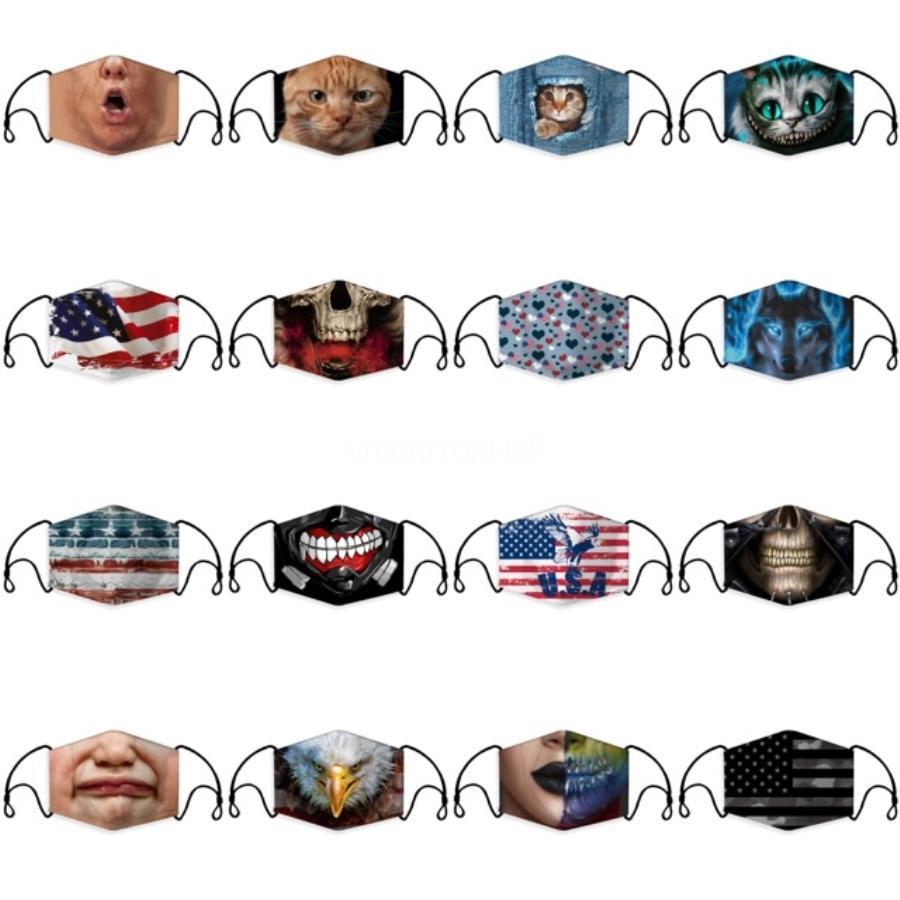 Yetişkin 3D Yıkanabilir Sünger Maske Vana Yeniden kullanılabilir Yeniden kullanılabilir Ağız Maskeleri Nefes ile Anti-Dust Karşıtı Kirliliği Maske KKA7952 # 564