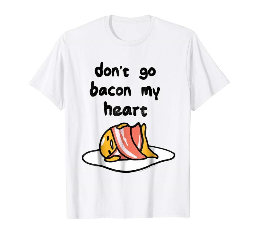 T-shirts Hommes Marque Homme Chemise Gudeama Don T Go Bacon My Heart Tee