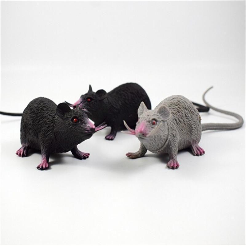 Tricky Joke Falso Lifelike Rato Modelo Prop 22 * 4,2 centímetros Partido Toy Halloween Decor Utility Decoração de Halloween suprimentos Branco Preto