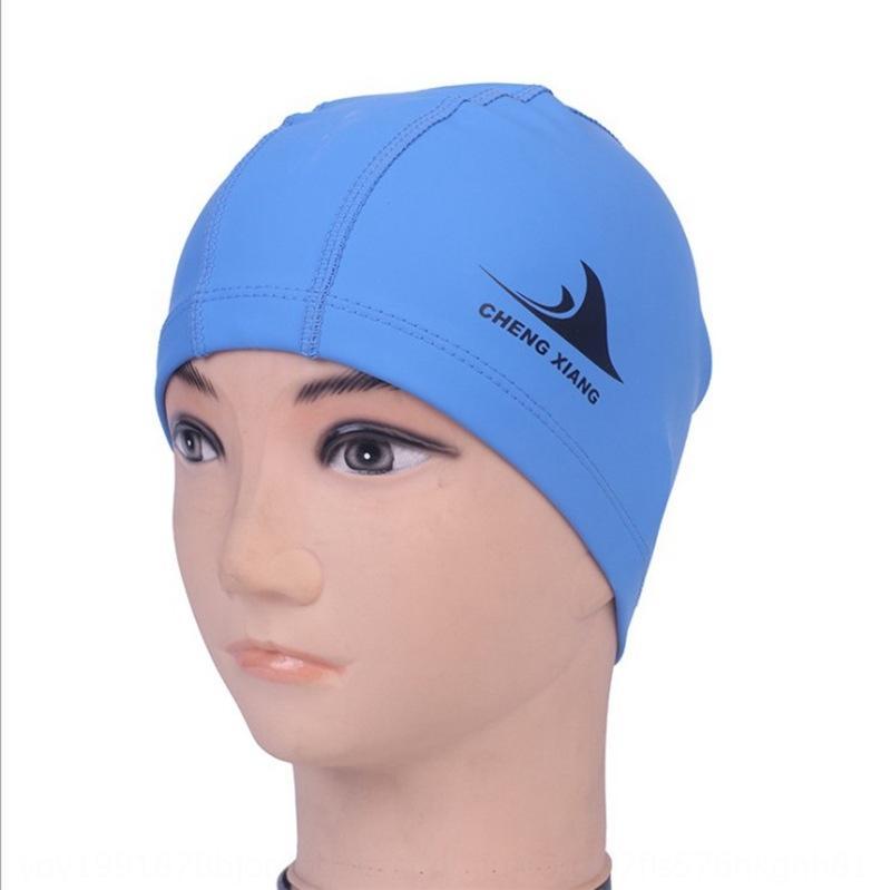 Adultes cheveux longs confortable hommes et femmes revêtement PU professionnelle mode imperméable bonnet oreille bonnet de bain de protection