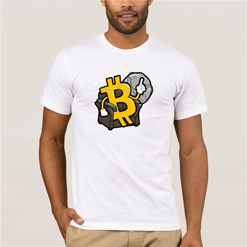 Männer-T-Shirt Druck Trend Printed Men Cotton Bitcoin Bequem Interessante Sommer Fashion Street Kurzarm T-Shirt