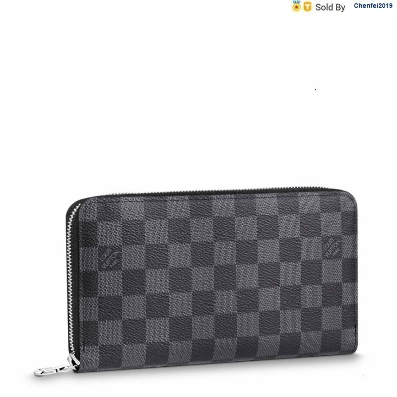 chenfei2019 TDFG Zippyorganizer Black Canvas Long Zipper Wallet N60111 Totes Handbags Shoulder Bags Backpacks Wallets Purse