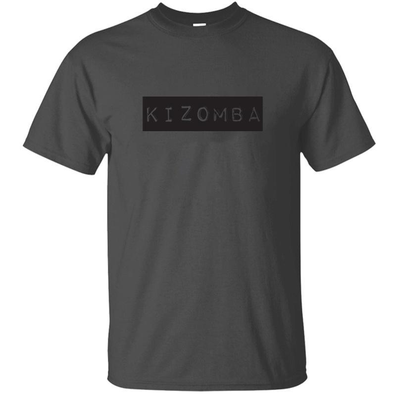Vintage divertente Kizomba vecchie lettere T-shirt da uomo umoristico Antirughe Army Green Maschile Tempo libero magliette Tee Shirt