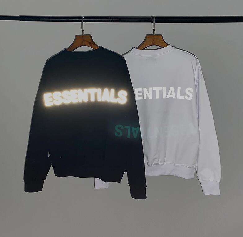 stylist Hoodie hip hop moda masculina pulôver rua dos homens e os hoodies das mulheres reflexivo letra da cópia solta ajuste nevoeiro Sweatshirt s-2xl