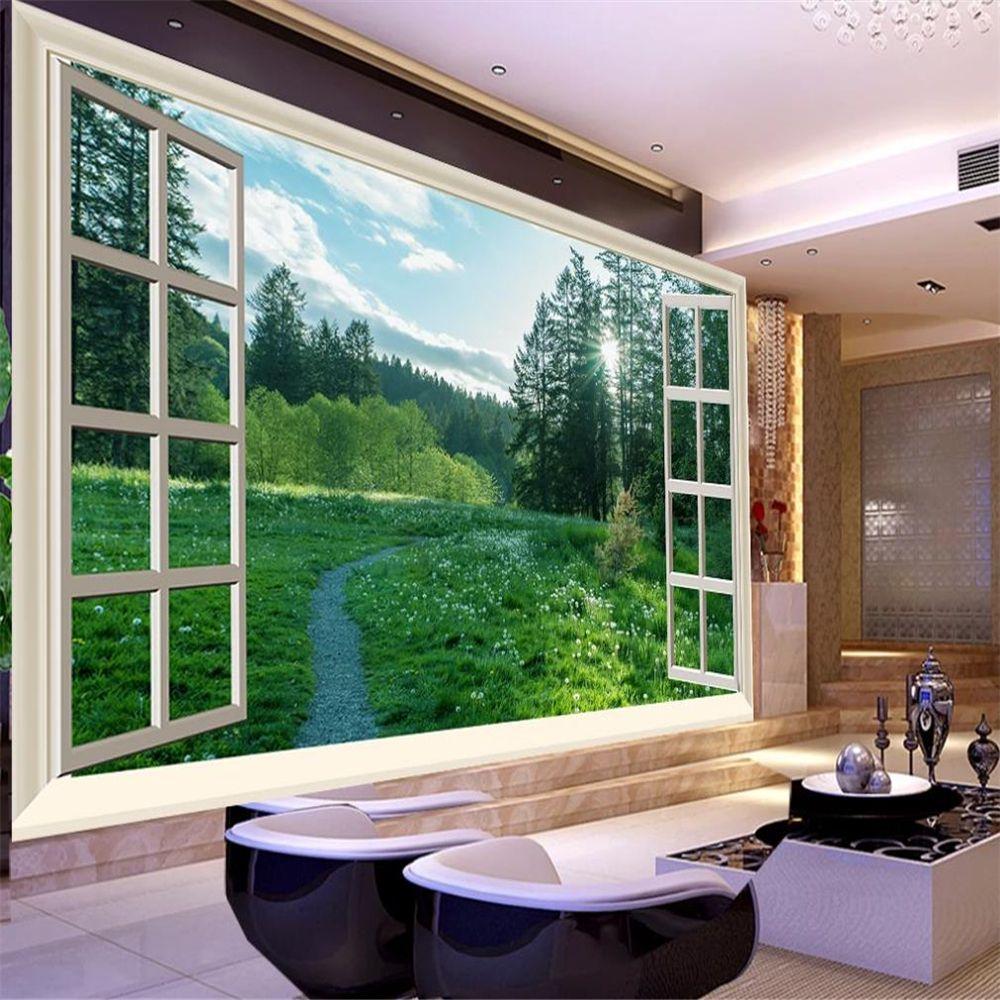 güzel manzara pencere duvar kağıtları dışında Yüksek çözünürlüklü yeşil alan çiçekler güneşli orman doğal TV arka plan duvar kağıtları