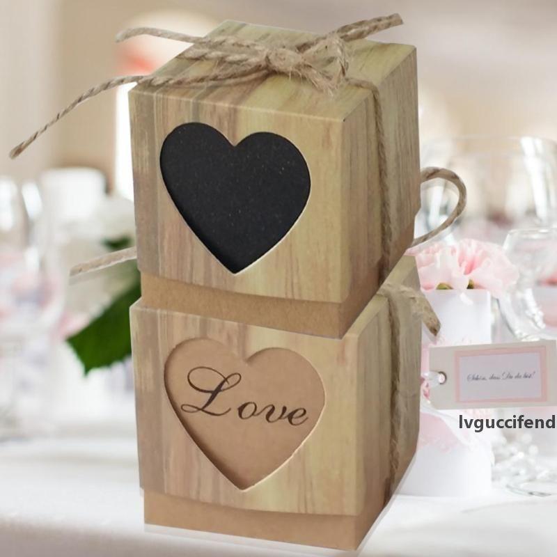 10шт Романтический в форме сердца коробка конфет Рождественские подарки Уникальные свадебные принадлежности Фестиваль украшения приема в основных поставок