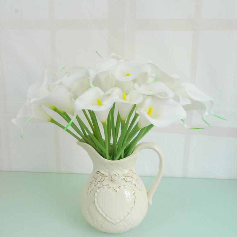 PU искусственный цветок calla лилия имитация белый цветок букет свадьба сад дом декор drop корабль