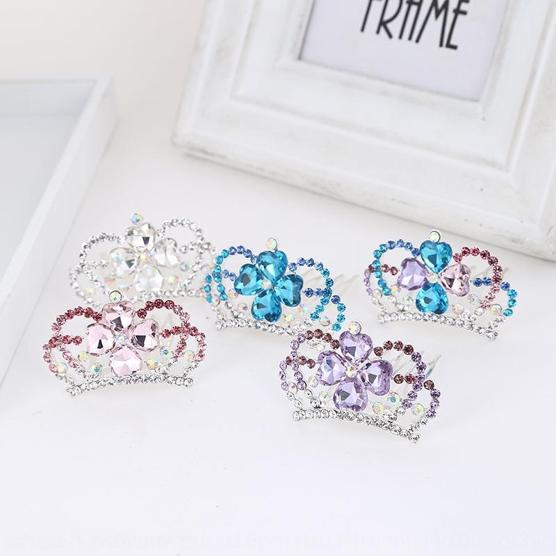 Zubehör Stil Brautkristallkristall mit Diamanten besetzte Haar Hairpin fünf Zahnhaarkamm Kopfschmuck Crown Korean 08tZF