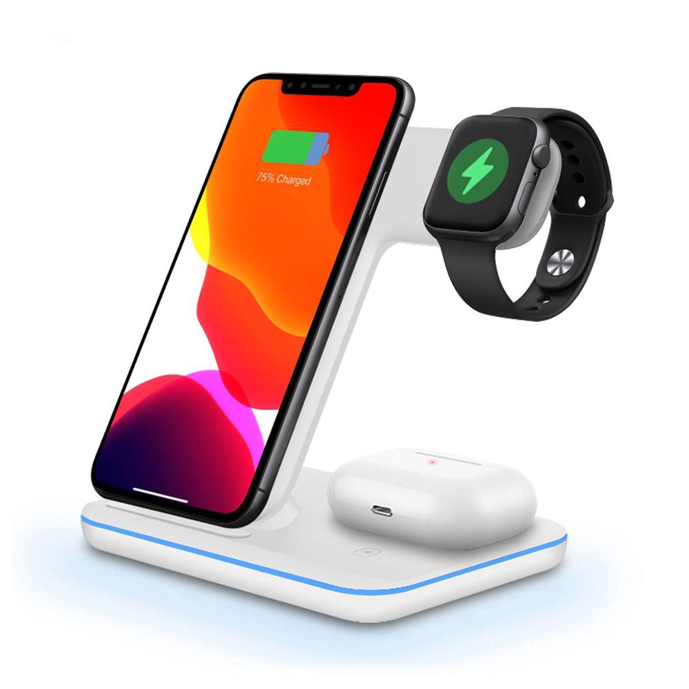 15W FAST QI Wireless Ladegerät für Apple Watch 5 4 3 2 AIRPODS PRO QI Laden für iPhone 12 PRO MAX XS Desktop Stand 3 in 1 Ladestation
