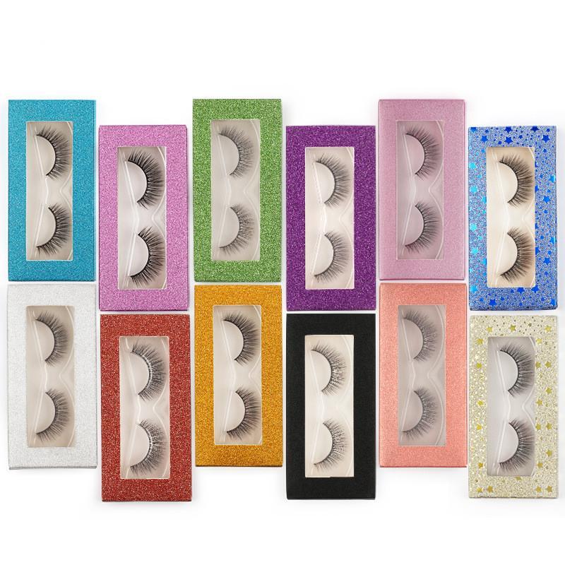 눈 속눈썹 포장 상자 빈 3D 밍크 속눈썹 사례 1 쌍 서리 낀 가짜 가짜 속눈썹 패키지 상자