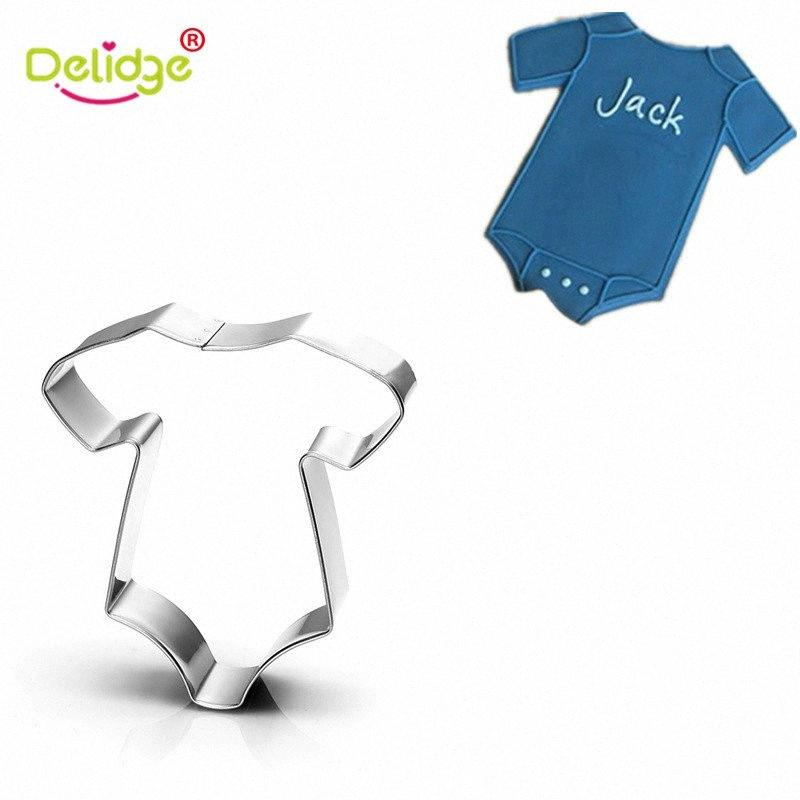Delidge 1 pc Baby Cloth Feeding Bottle Shape Cookie Molds Stainless Steel Baby Series Cute Cookie Cutter Baking Molds sBMn#