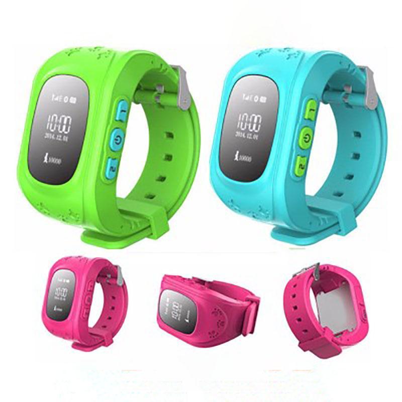 Q50 GPS Smart Kids Sicher Smart Baby-Uhr-Armbanduhr SOS-Ruf Location Finder Locator Tracker-verlorener Monitor für Android IOS