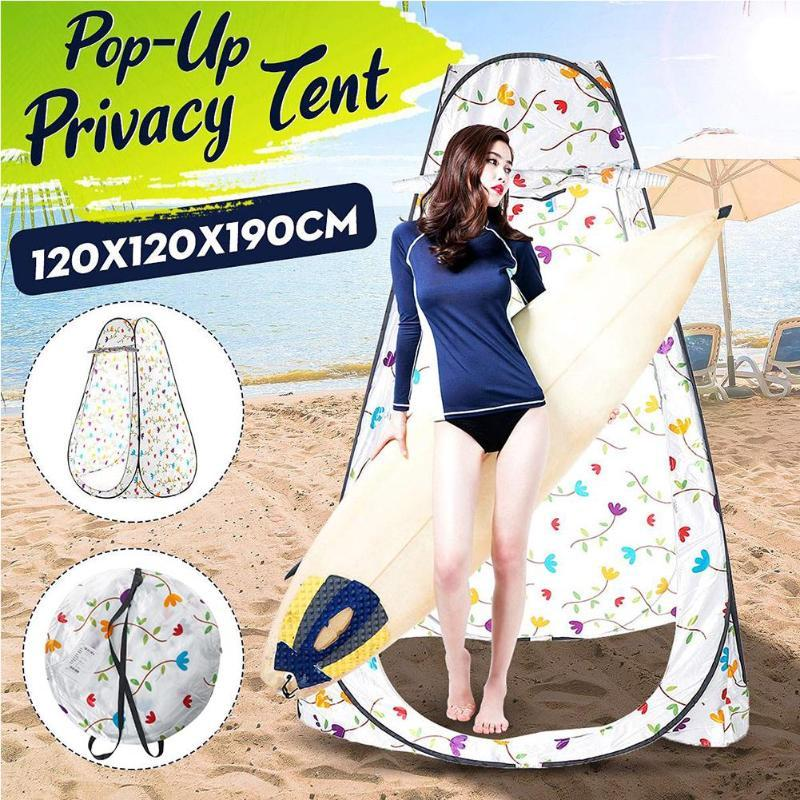 Camping confidentialité Portable Douche d'extérieur Toilette Tente automatique jusqu'à vestiaire Des douche Tente Coiffeuse avec sac de rangement