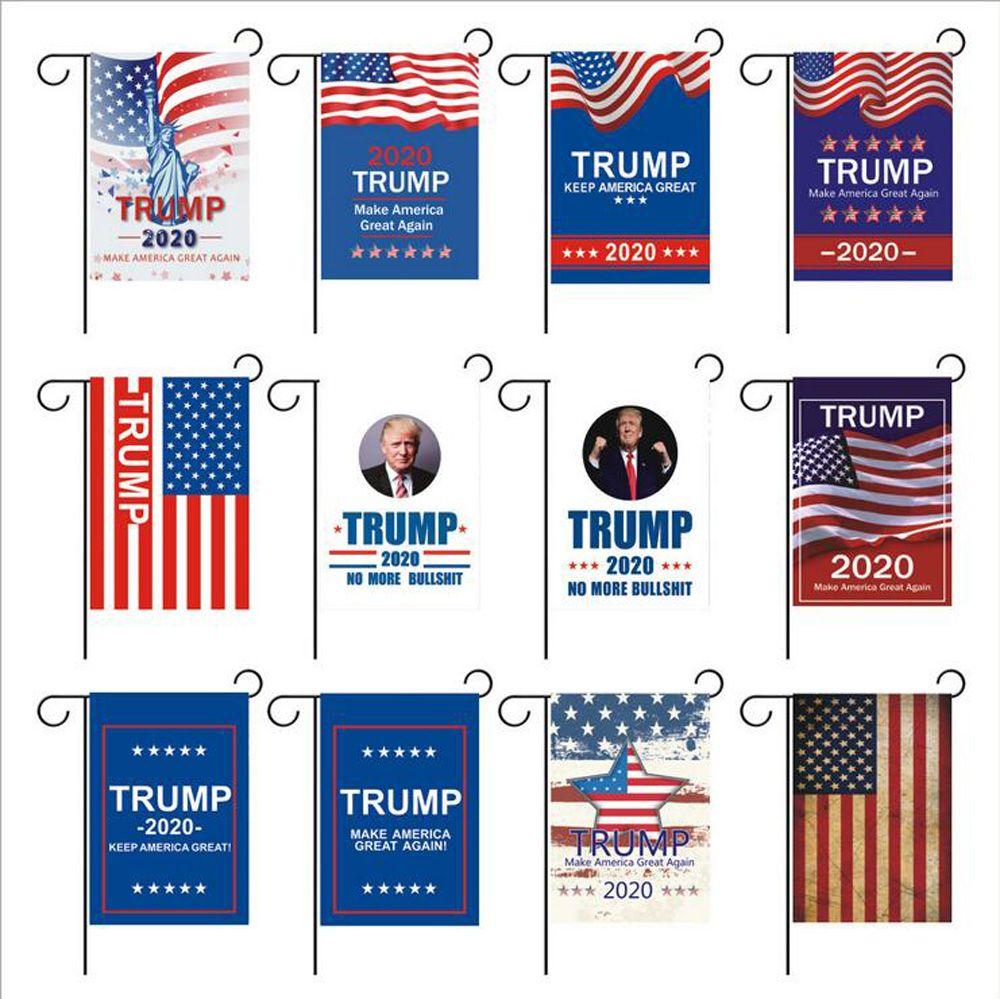 30 * 45cm 트럼프 플래그 2020 Amercia 대통령 캠페인 양면 정원 플래그를 지원하는 트럼프 2020 미국을 멋지게 유지