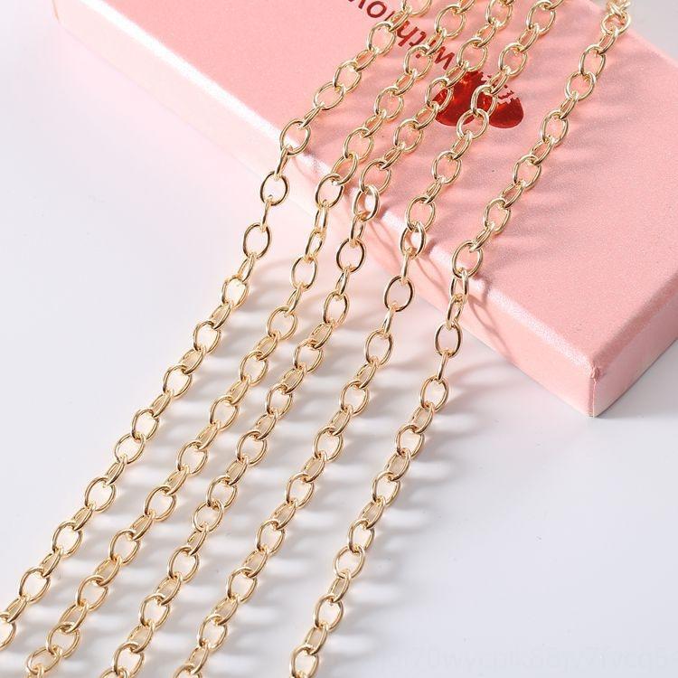 Le chiffrement mince chaîne sac pompon métal bricolage accessoires chaîne spéciale accessoires pour ornements diy
