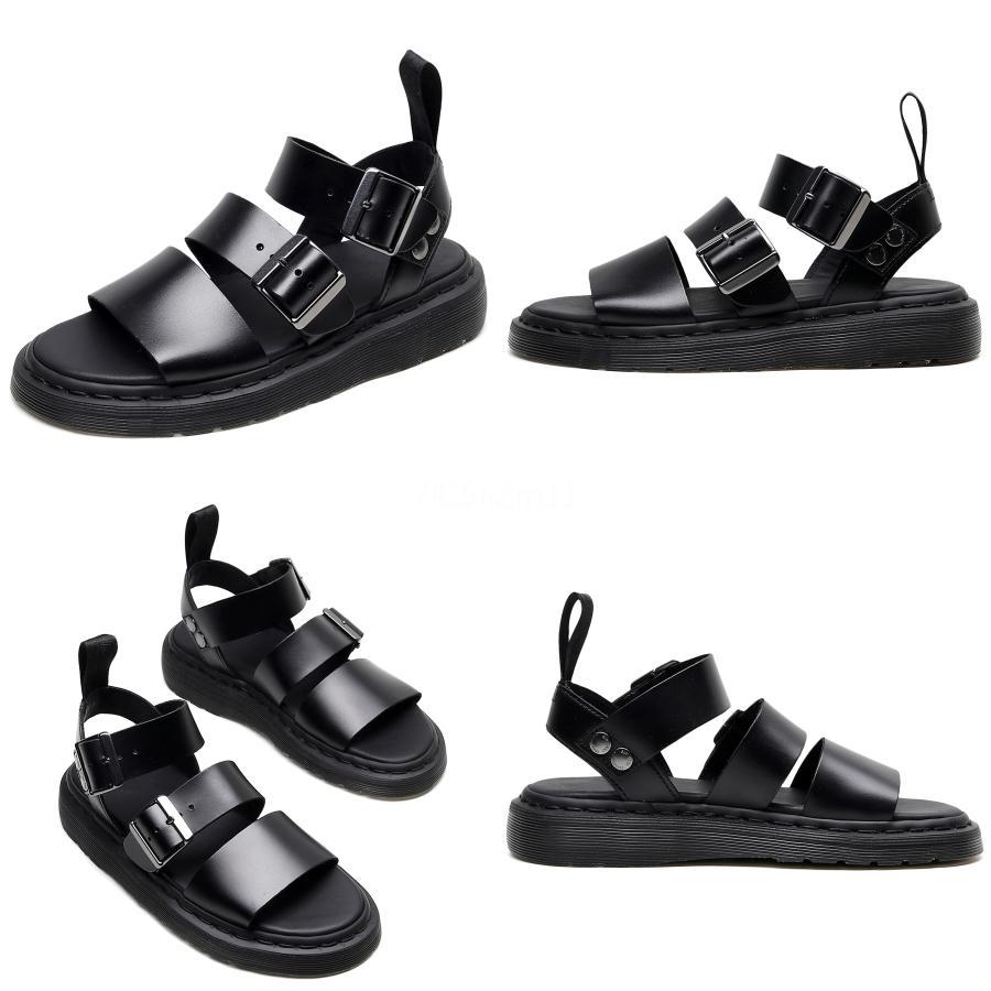 NouC Vintage Comfort fibbia-Strap Sandals Donna sportiva in pelle sandali degli appartamenti Femme Slip On Summer Beach 2020 C01 # 935