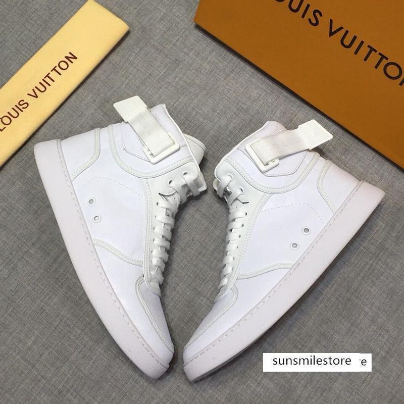 New29 Top-Luxus-beiläufige wilde Sportleder Schuhe der bequemen Männer original Box-Verpackung Zapatos Hombr