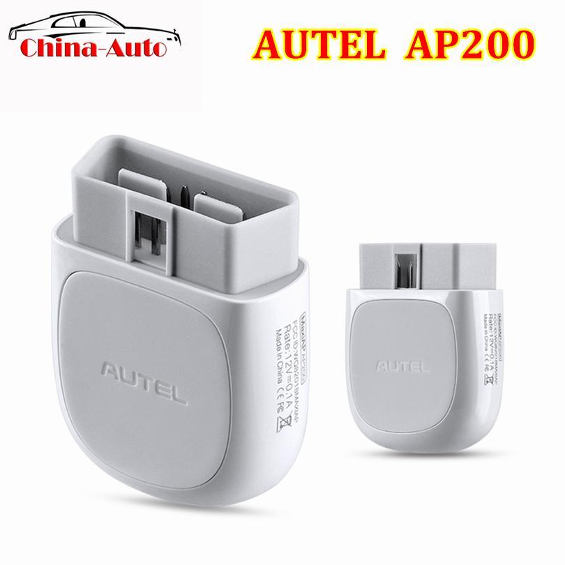 100% Original Autel AP200 Bluetooth OBD2 Scanner Code Reader Full Systems Diagnostic AutoVIN TPMS IMMO Family DIYers PK MX808