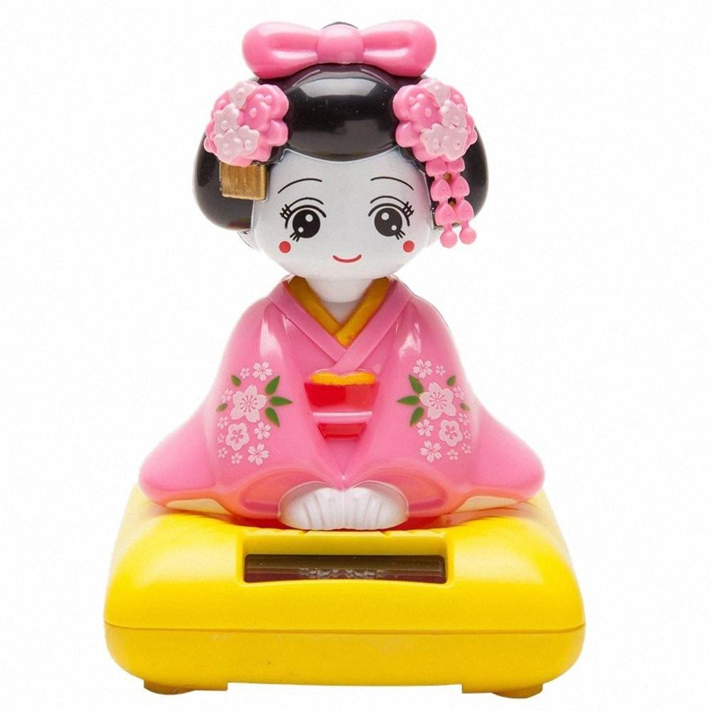 Solar Powered Bobblehead Toy Figure, Japanese Kimono Maiko Geisha FqWZ#
