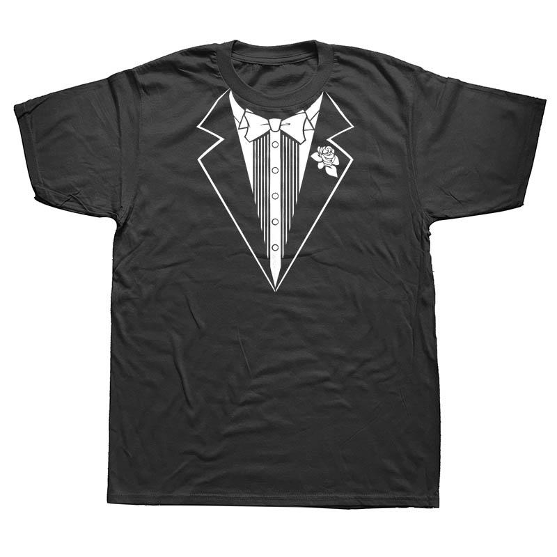 Funny Tuxedo Wedding Marriage Novelty Mens Men T Shirt T-shirt New Short Sleeve O Neck Cotton Tee