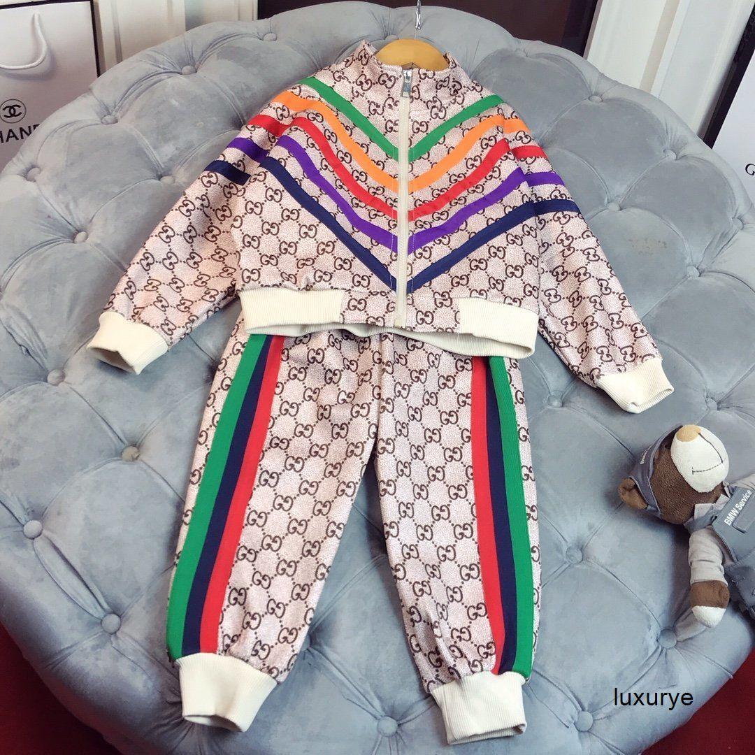 Girl boys Korean Children long Sleeve girls autumn Clothing classic top pants Set