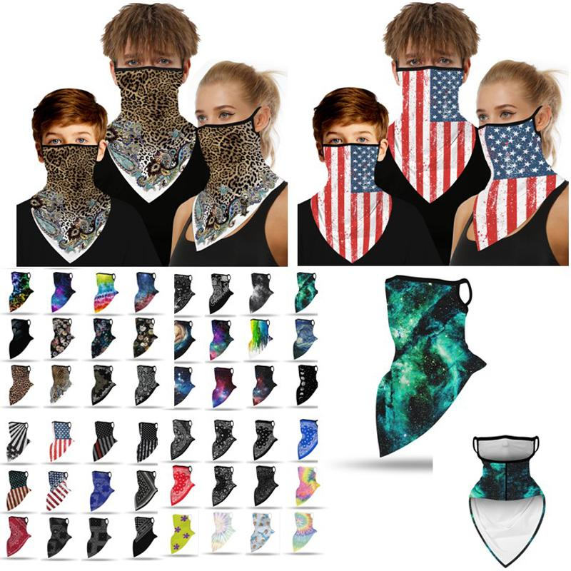 Sport Face Mask Headscarf Children and Adult Shield Cover Ring Scarf Outdoor Fishing Bicycle Bandanas Cycling Protect Neck Gaiter 48styles