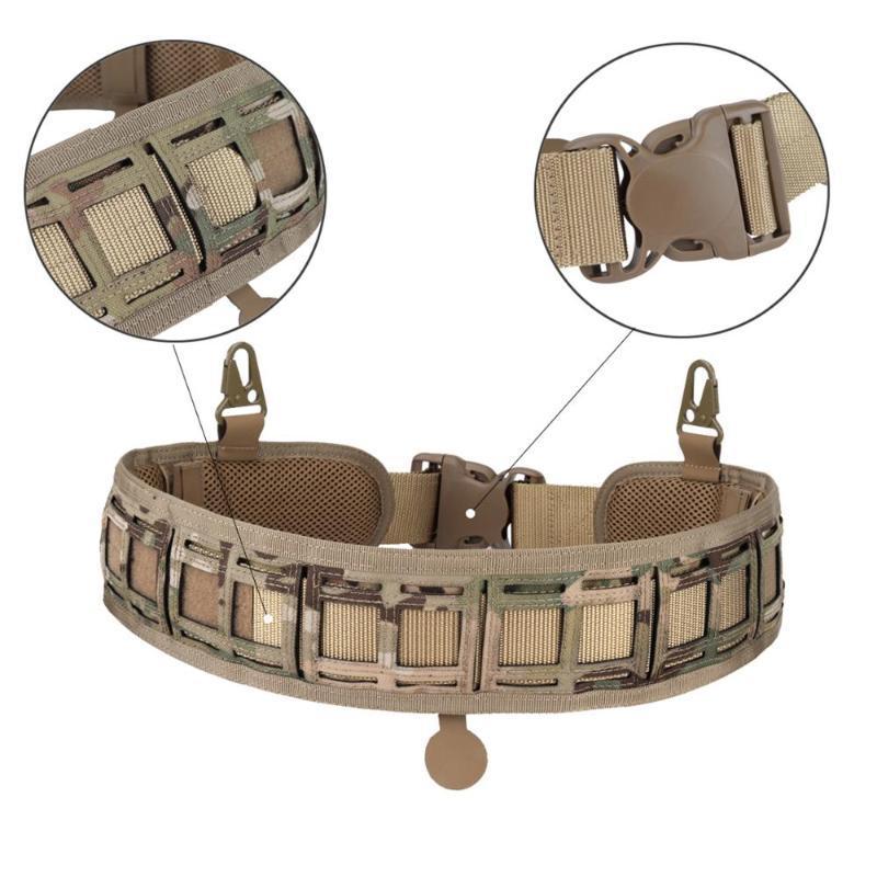 الخصر دعم التكتيكية رخوة حزام 1000D نايلون مريحة القتال قابل للتعديل التدريب حزام ناعمة مبطن