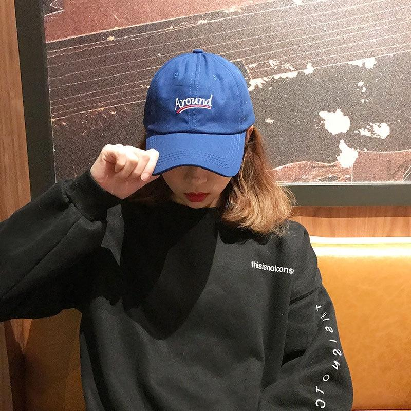 fENPX Sapphire blue Women's Korean style street trendy student hat children's spring and autumn style peaked Women's fashionable Pointed Bas