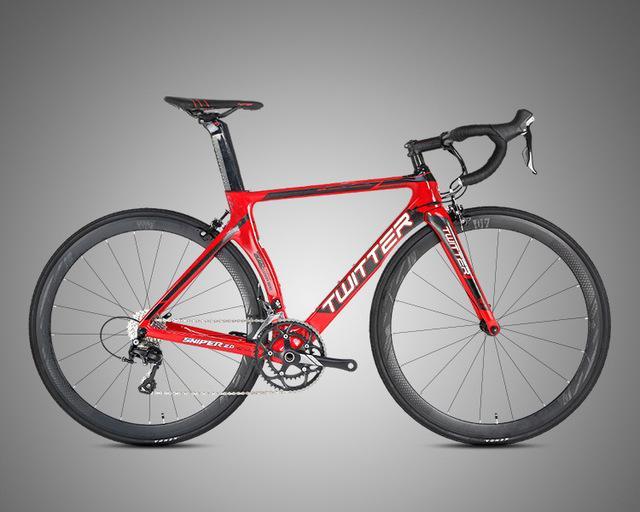 2020 Road Bike Carbon-Faser 16 mit variabler Geschwindigkeit Road Racing Bent Lenker Sniper2.0 Männer und Frauen Bike Carbon-Fahrrad Festrad